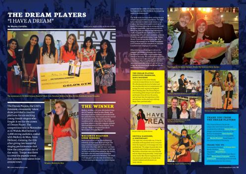 Two page spread on The Dream Players