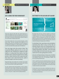 My Column about the talented ladies behind Ananasa.com next to a fellow writer and also a artist.