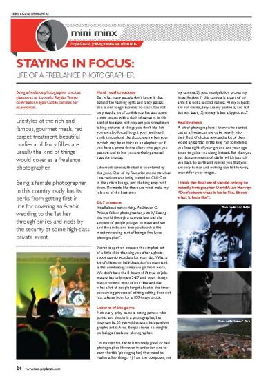 Article on freelance photography
