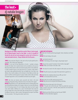 Article on DJ Natalie Brogan