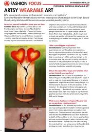 Article on Cornelia the jewelry designer