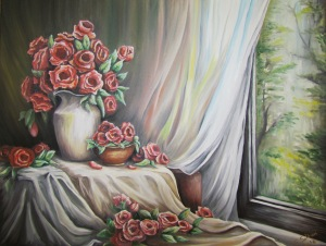 """Classic Vase"", oil on canvas."